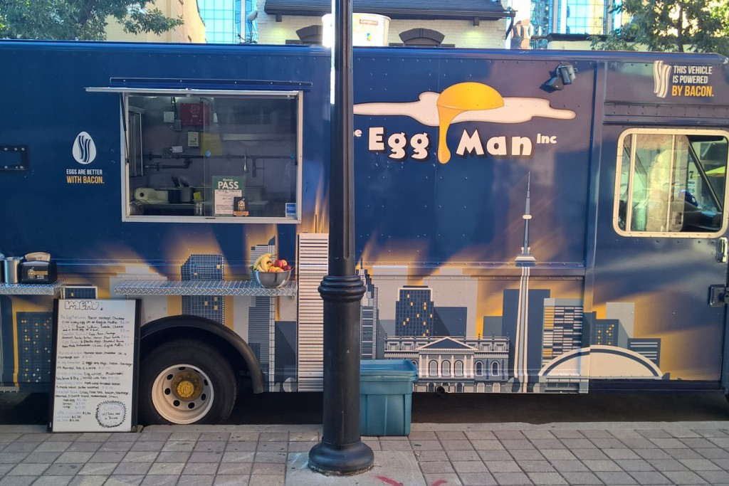 The egg man toronto food trucks toronto food trucks for Kitchen 88 food truck utah menu